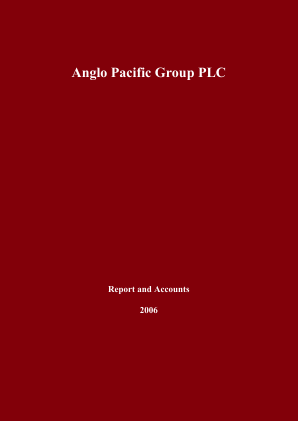 Anglo Pacific Group annual report 2006