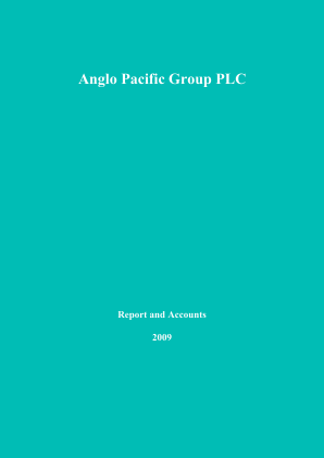 Anglo Pacific Group annual report 2009