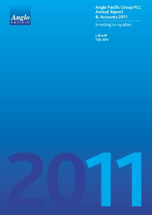 Anglo Pacific Group annual report 2011