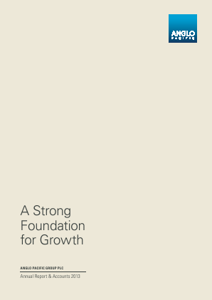 Anglo Pacific Group annual report 2013