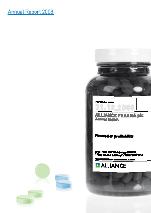 Alliance Pharma annual report 2008