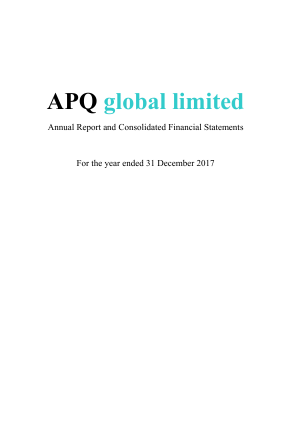 APQ Global annual report 2017