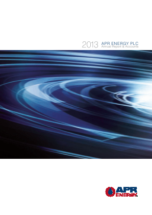 APR Energy Plc annual report 2013