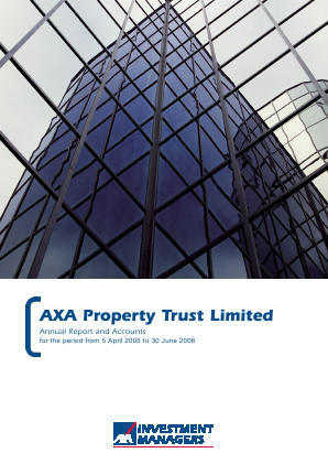 Axa Property Trust annual report 2006