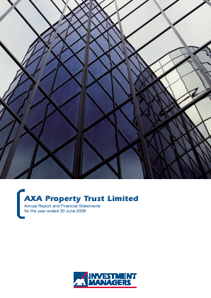 Axa Property Trust annual report 2008