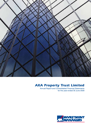 Axa Property Trust annual report 2009