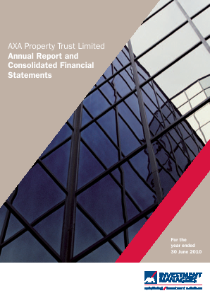 Axa Property Trust annual report 2010