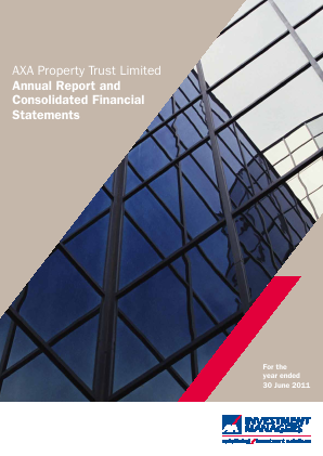 Axa Property Trust annual report 2011