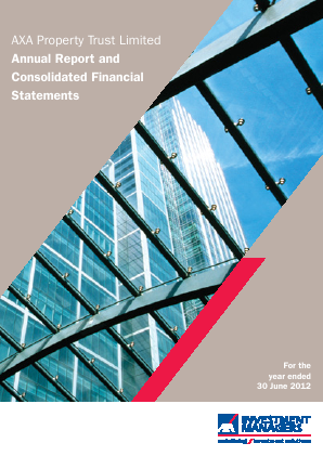 Axa Property Trust annual report 2012