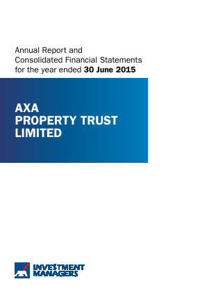 Axa Property Trust annual report 2015