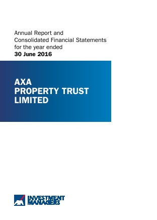 Axa Property Trust annual report 2016