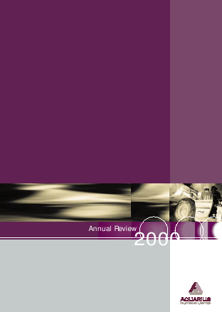 Aquarius Platinum Limited annual report 2000