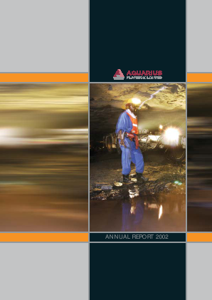 Aquarius Platinum Limited annual report 2002