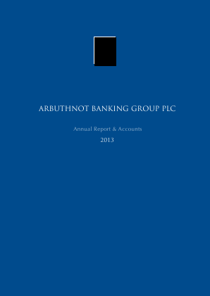 Arbuthnot Banking Group Plc annual report 2013