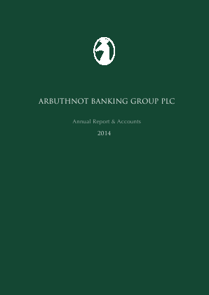 Arbuthnot Banking Group Plc annual report 2014