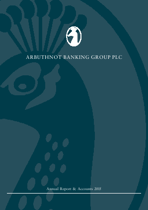 Arbuthnot Banking Group Plc annual report 2015