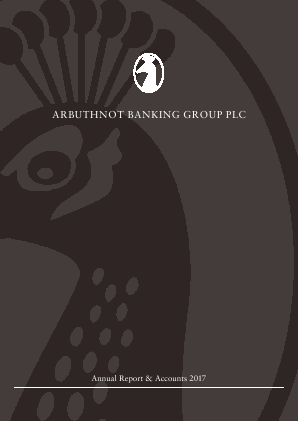 Arbuthnot Banking Group Plc annual report 2017