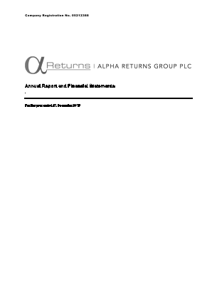 Alpha Returns Group Plc annual report 2015