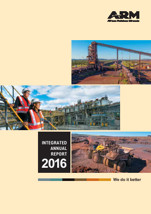 African Rainbow Minerals annual report 2016