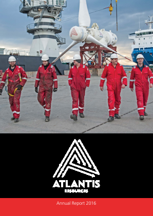 Simec Atlantis Energy (previously Atlantis Resources) annual report 2016