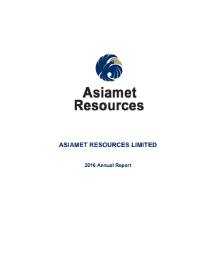 Asiamet Resources Ltd annual report 2016