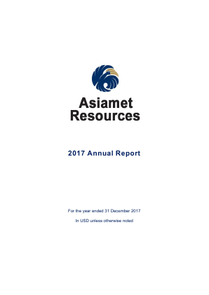 Asiamet Resources annual report 2017