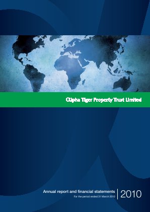 Alpha Real Trust Ltd annual report 2010