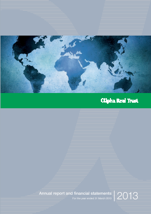 Alpha Real Trust annual report 2013