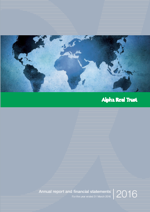 Alpha Real Trust Ltd annual report 2016