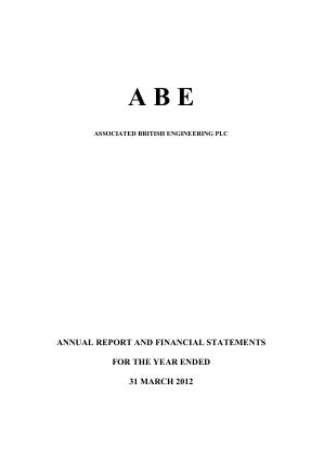 Associated British Engineering annual report 2012