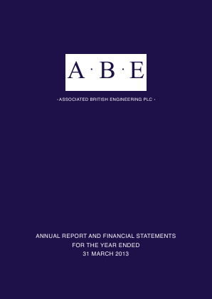 Associated British Engineering annual report 2013