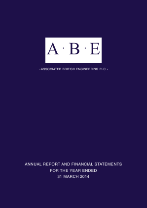 Associated British Engineering annual report 2014