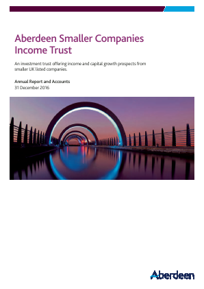 Aberdeen Smaller Companies Income Trust PLC (formerly Aberdeen Smaller Companies High Income Trust PLC) annual report 2016