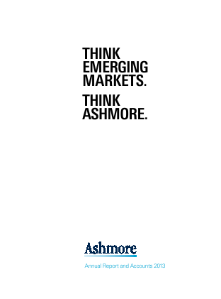 Ashmore Group Plc annual report 2013