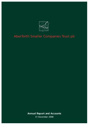 Aberforth Smaller Companies Trust annual report 2008