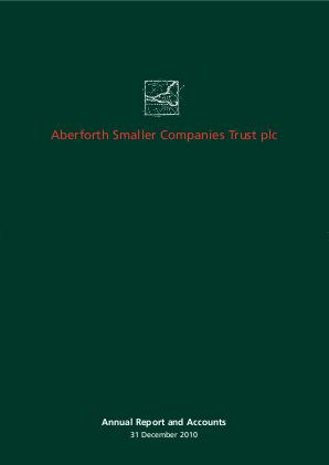 Aberforth Smaller Companies Trust annual report 2010