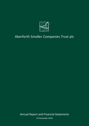 Aberforth Smaller Companies Trust annual report 2016