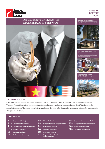 Aseana Properties annual report 2012