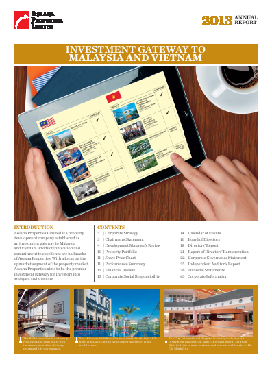 Aseana Properties annual report 2013