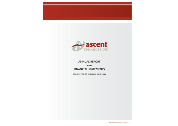 Ascent Resources annual report 2005