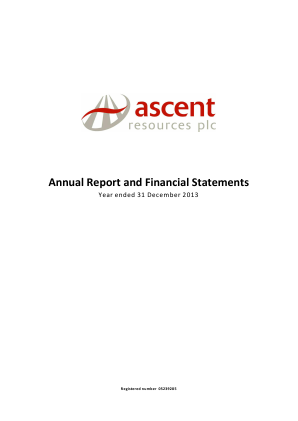 Ascent Resources annual report 2013
