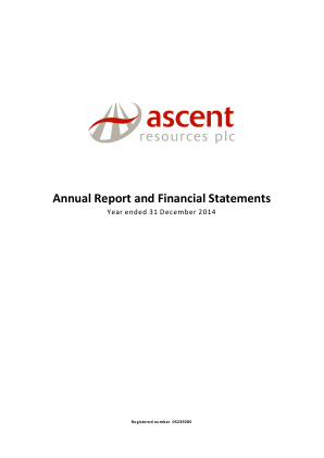 Ascent Resources annual report 2014