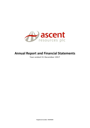 Ascent Resources annual report 2017