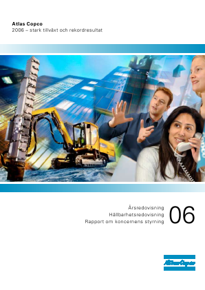 Atlas Copco annual report 2006