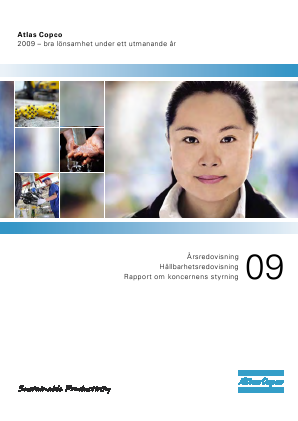 Atlas Copco annual report 2009