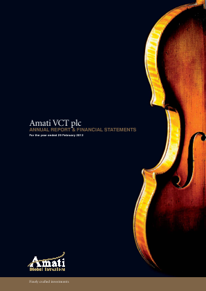 Amati VCT Plc annual report 2012