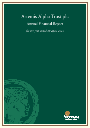 Artemis Alpha Trust annual report 2010