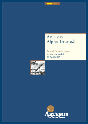 Artemis Alpha Trust annual report 2015