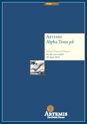 Artemis Alpha Trust annual report 2016