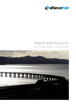 Alliance Trust annual report 2009